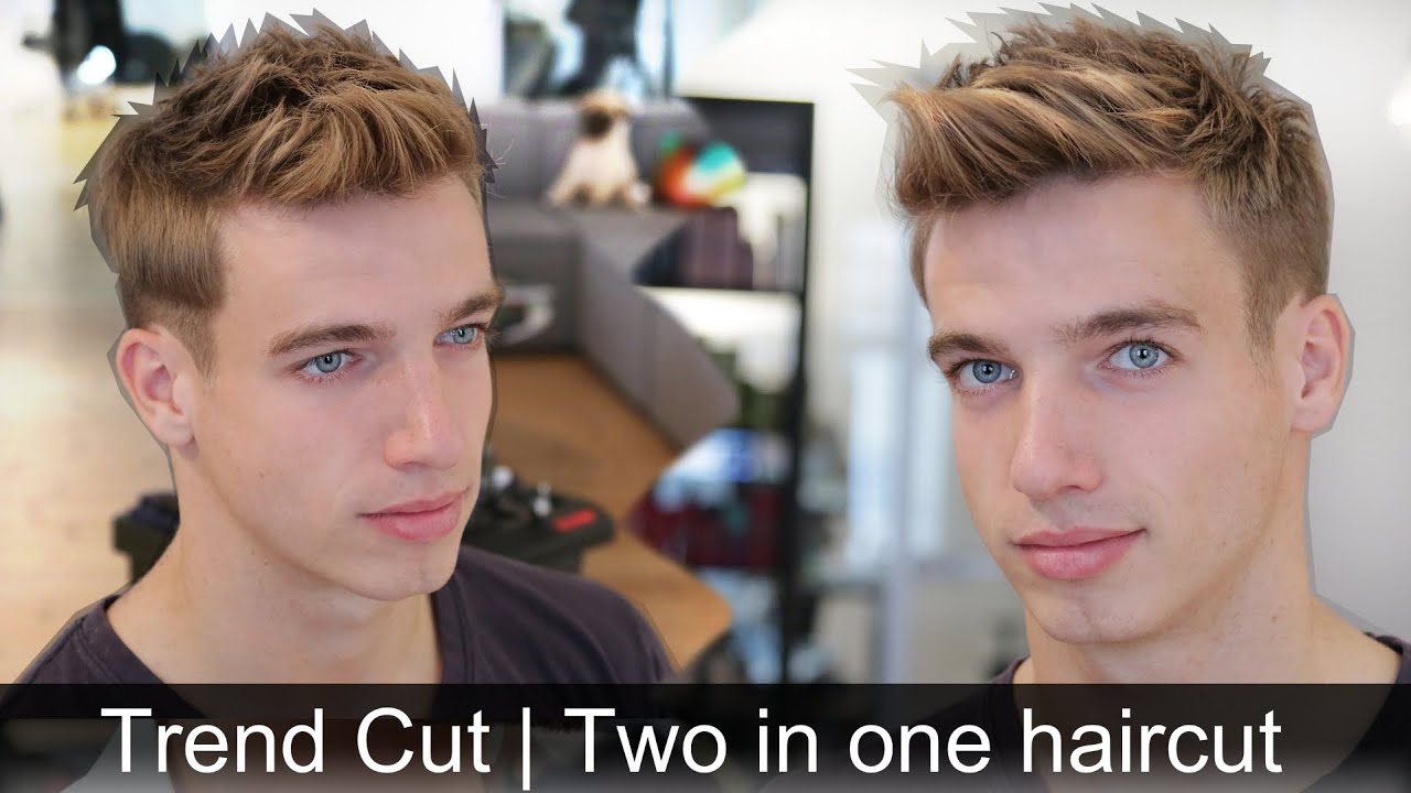 mens trendy hair tutorial 2 hairstyles in 1 haircut