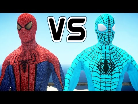 The Amazing Spider-Man vs The Amazing Blue Spiderman