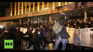 Violent Tune: Angry crowds storm pop star