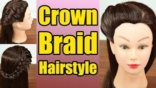 Hairstyle Tutorial: Crown Braid Hairstyle | Boldsky