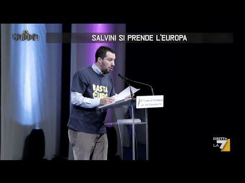 """Matteo Salvini al Congresso del Front National: """"Noi contro super Stato europeo"""""""