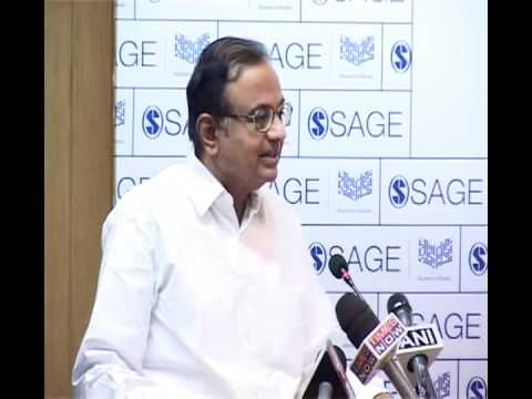 Shri P Chidambaram speaking at the book release of
