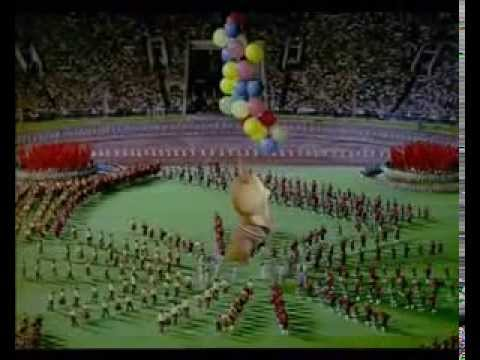 Moscow Olympics 1980 Closing ceremony with Misha!! Москва Олимпиада