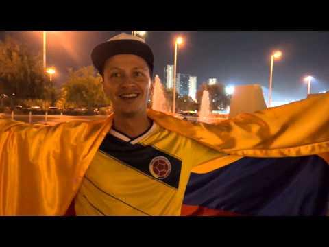 Colombia fans in UAE before Kuwait friendly