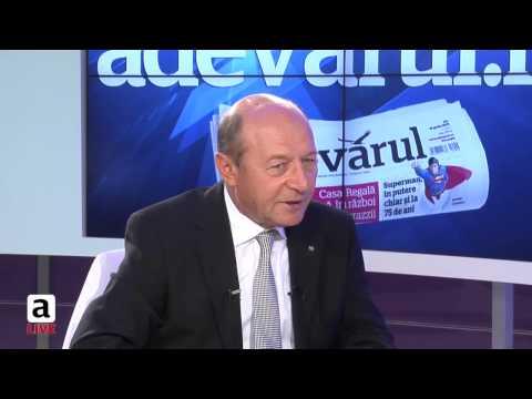 """Băsescu, la Adevărul Live: """"Ponta, câţi bani ai luat de la Roşia Montană?"""