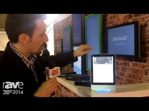 ISE 2014: DV Signage Demos Two-Sided Android-Based Digital Signage Unit