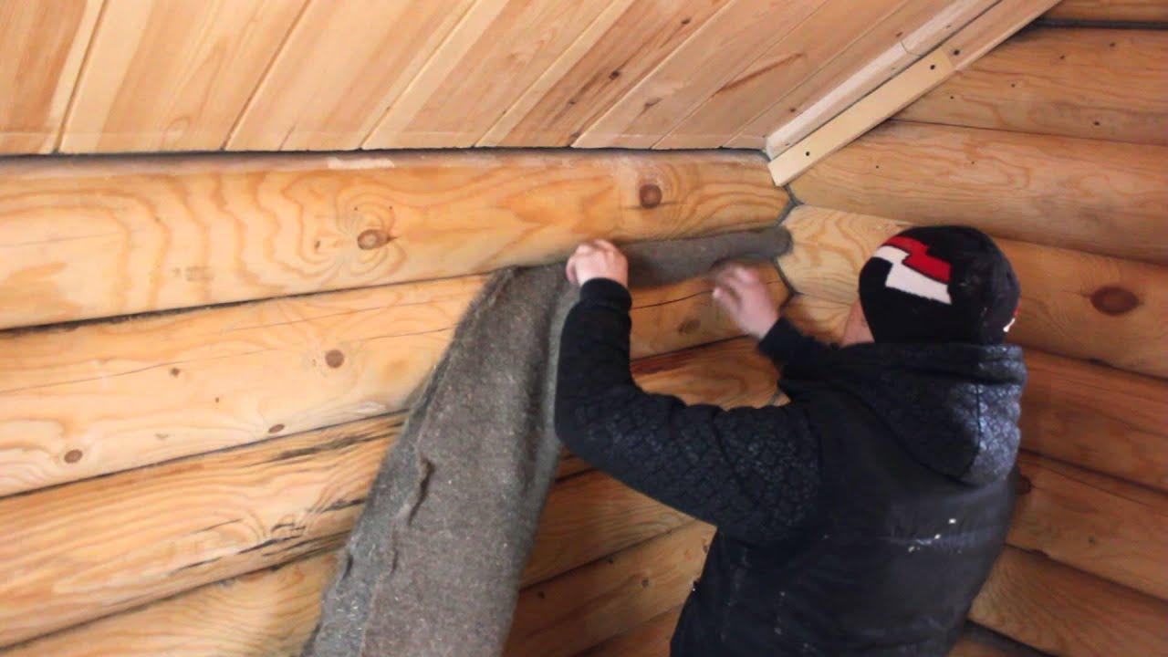 Как проконопатить дом своими руками