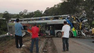 Acidente com ônibus de turismo,10 mortos - Br-262 km 509 próximo a Luz