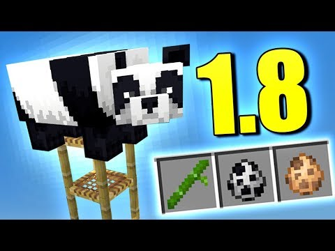 😱 YA HAY PANDAS EN MINECRAFT 1.8 👉 NUEVOS ANIMALES Y BLOQUES 👈 MINECRAFT PE 1.8.0.8