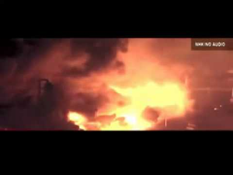 Oil Refinery in Japan Exploding during March 11th 2011 Earthquake