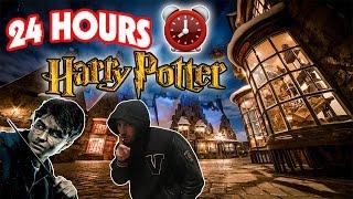 (HARRY POTTER!) 24 HOUR OVERNIGHT AT HOGWARTS FORT ⏰  | WORLD OF HARRY POTTER OVERNIGHT CHALLENGE!