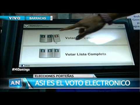 Simulacro del voto electrónico