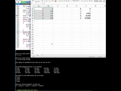 Polynomial Fitting using C++ Program Tutorial : Computer Aided Analysis