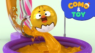 Como | Color paint mixing 2 | Learn colors and words | Cartoon video for kids | Como Kids TV