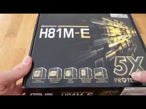 Cheap motherboard for overclocking unlocked Haswell CPUs. ASUS H81M-E unboxing and feature overview.