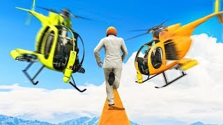 TIGHTROPE RUNNERS vs. HELICOPTERS (Gta 5 Funny Moments)