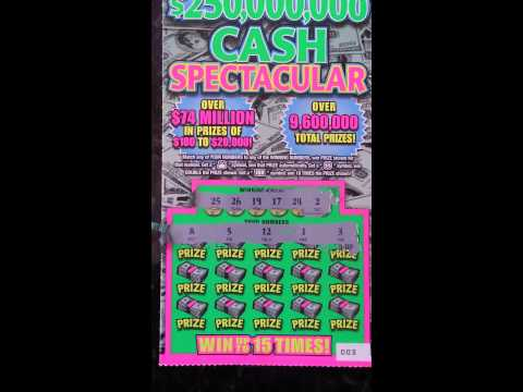 $10 250M Cash Spectacular Illinois lottery