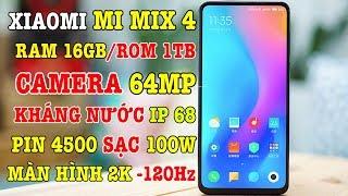 Quái vật Xiaomi Mix 4 cấu hình như máy tính RAM 16GB sạc nhanh 100W