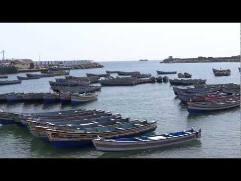Vizhinjam Fishing Sea and Vizhinjam Mosque, Kerala, India