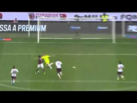 Giampaolo Pazzini Goal AC Milan vs Livorno 3 - 0 Serie A 2014 VecSport.com
