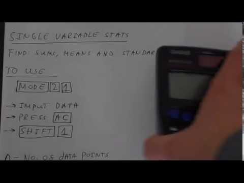 Casio Fx-85GT Plus Statistics Tutorial: Standard Deviation. Mean. Pearson's r and Linear Regression