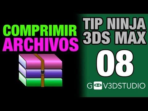 Tip Ninja 3ds Max -08- Comprimir Archivos - Optimizar compresión