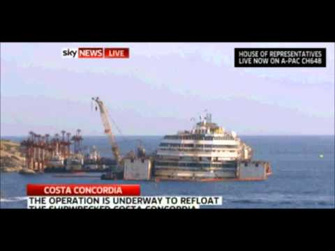 Costa Concordia refloat underway