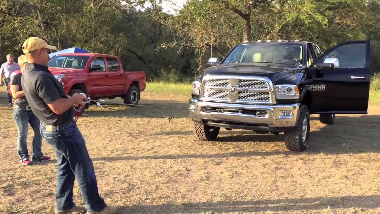 2015 Ram Power Wagon - Winch Demonstration - YouTube