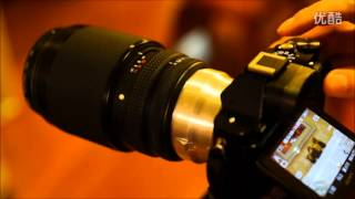 Contax Medium Format lens 645 to Sony E-mount Fringer adapter