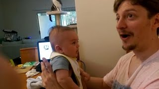 Is This 3-Month-Old Baby Really Talking?! Watch Him Tell Dad: