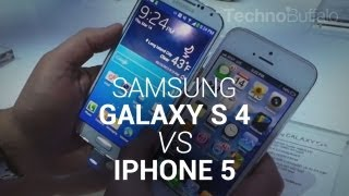 Samsung Galaxy S 4 vs iPhone 5!