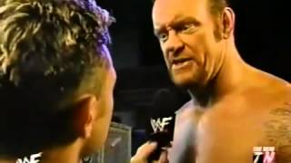 WWF Raw (2002) - The Undertaker & Chris Jericho Backstage Segment - 2/4/02