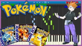 Final Battle! Rival - Pokemon RBY - Piano Tutorial [Synthesia♫] ライバル オーキド・グリーン Green Okido