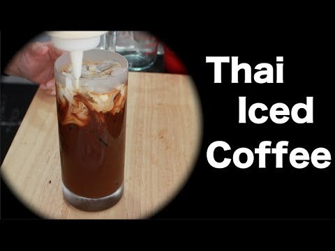 Thai Iced Coffee - Hot Thai Kitchen กาแฟเย็น - YouTube