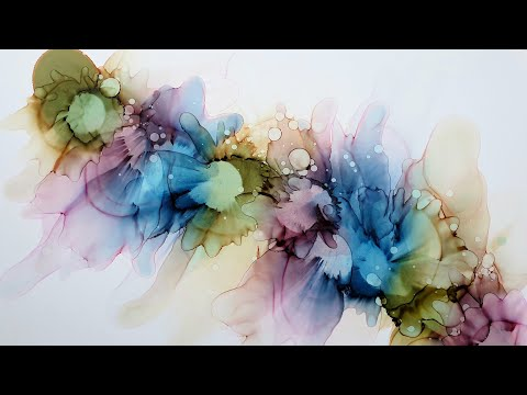 Alcohol Ink, Beginner Tutorial ( in real time)  ( nr 56 )