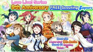 [ENSIF] LL Series! 9th Anniversary AQOURS Scouting! | ラブライブ | LoveLive!