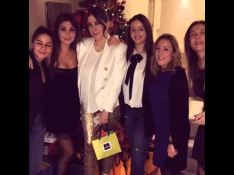 Elissa with her friends spend Christmas night