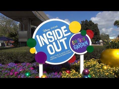 Disney Pixar INSIDE OUT Emotion Garden at Epcot Flower and Garden Festival 2015, Walt Disney World