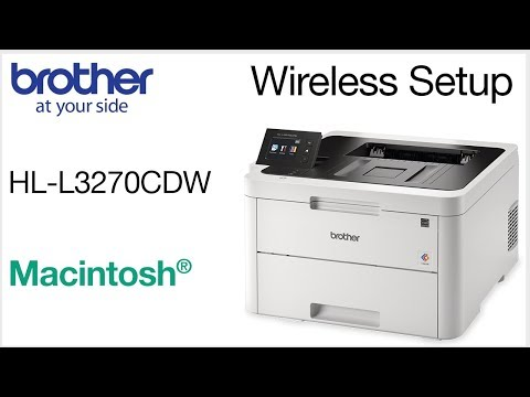 Connect HLL3270CDW to a wireless computer - Macintosh
