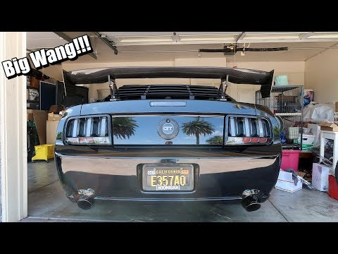 Cammed Mustang GT Gets A Big Wing!!!