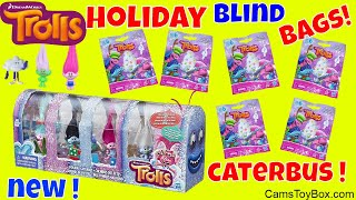 Dreamworks Holiday Trolls Blind Bags Caterbus Caterpillar Opening Series 6 Surprise Toys