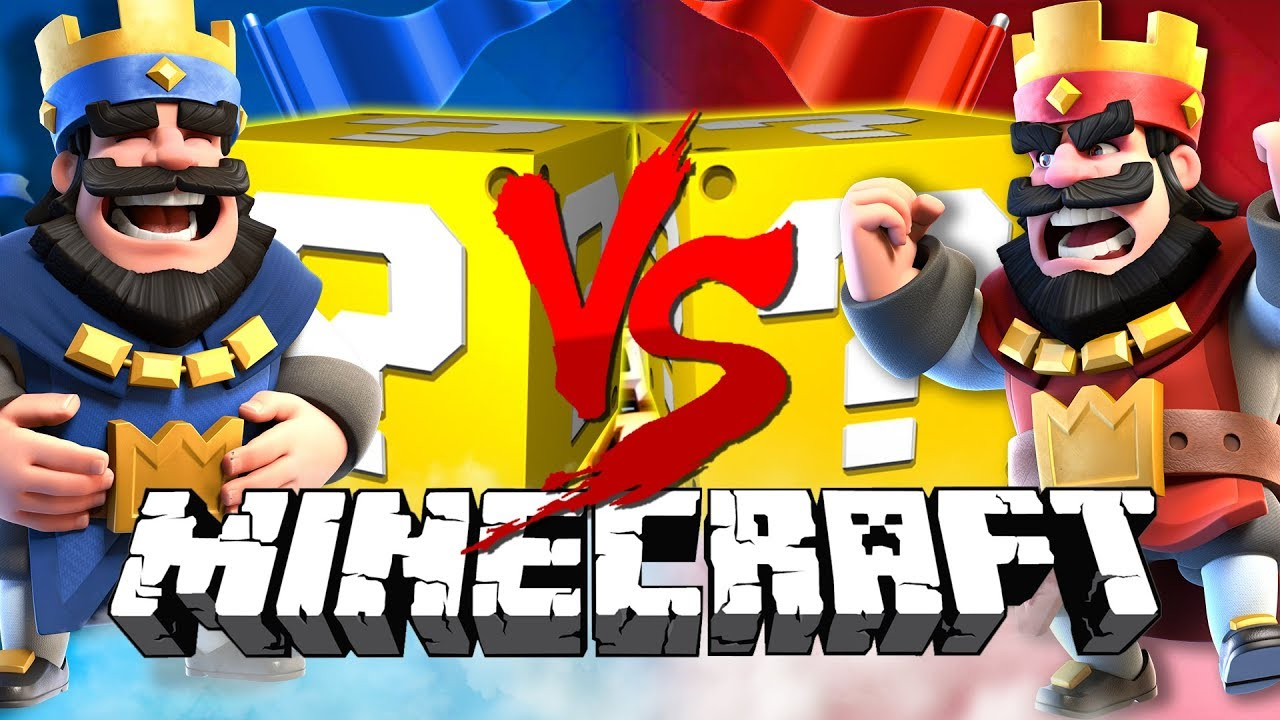 Minecraft: CLASH ROYALE LUCKY BLOCK CHALLENGE   2v2 BATTLES!!
