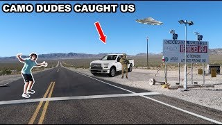 Crossing The Area 51 Line! (I GOT CAUGHT)