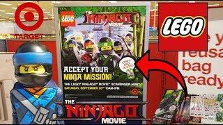 FREE LEGO STUFF!! NINJAGO SCAVENGER HUNT AT TARGET!! Ethan Becomes A Ninja Master!!!