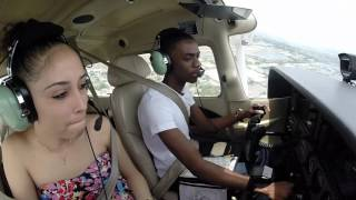 Cessna 172| Flying Girlfriend to Pompano Beach| ATC Audio