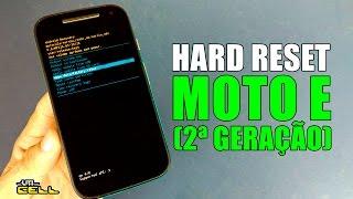 Moto E 2ª Geração Motorola como formatar aplicar hard reset