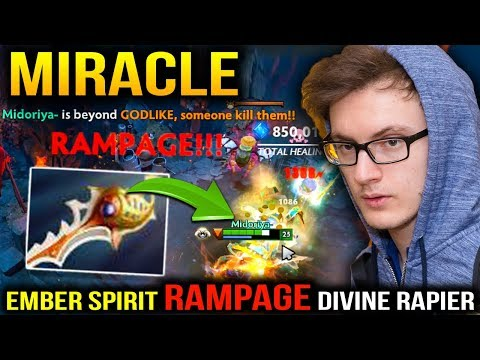 Miracle RAMPAGE RAPIER with Ember Spirit Dancing In Party Game Dota 2