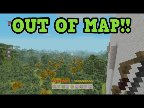 Minecraft Battle Mode: OUT OF MAP Parkour / Glitch!