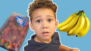 Learn Colors with Fruits Song | Liam Pretend play Nursery Rhymes & Kids Songs