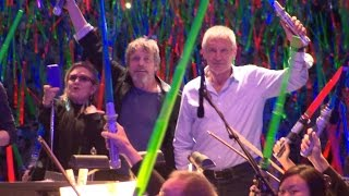 Han Solo, Leia, Luke appear at Star Wars: The Force Awakens event - San Diego Comic-Con 2015